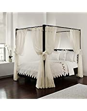 Royale Home Top Ties and Tie Backs, Sizes by Royale Linens Bed Canopy Set, Regular