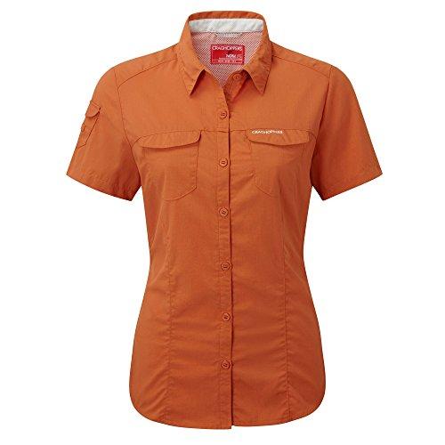 Craghoppers Womens/Ladies NosiLife Adventure Short Sleeve Shirt Mushroom