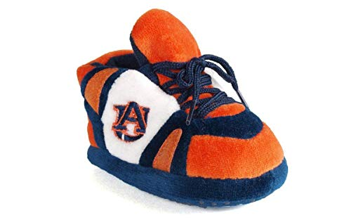 AUB03PR - Auburn Tigers NCAA Happy Feet Baby Slippers (Auburn Tigers Infant Slipper)