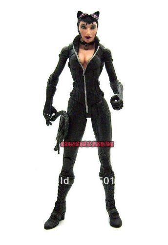"DC Direct DCD Batman Arkham City Series 2 Catwoman 6"" Loose Action Figure Figurine Toy Doll"