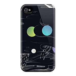 ChriDD Iphone 4/4s Hybrid Tpu Case Cover Silicon Bumper Abstract Illustration