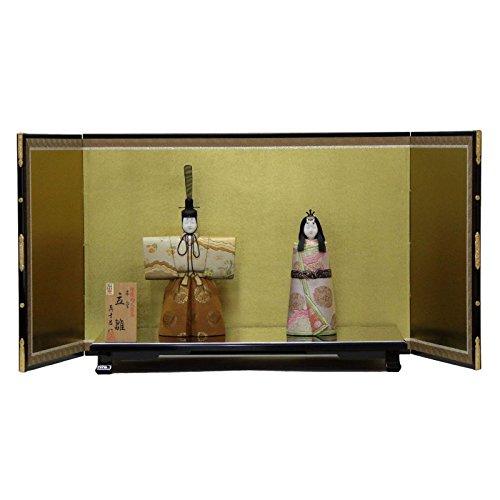雛人形 平飾り木目込み親王 本金修明立雛1904 幅88cm 3mk22 真多呂 伝統的工芸品   B075GKK55Z