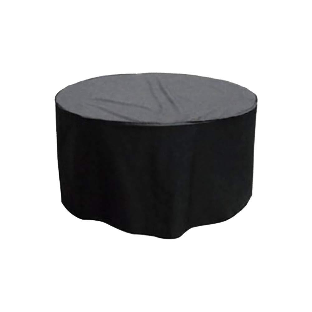 ファニチャーカバー 庭の家具カバー防水と防塵ポリエステルオックスフォード屋外ラウンドテーブルカバー25サイズ (Color : Black, Size : 280x110cm) B07T6T35KH Black 280x110cm