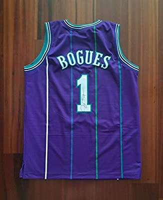 b1206b018a0 Tyrone Muggsy Bogues Autographed Signed Jersey Charlotte Hornets JSA at  Amazon's Sports Collectibles Store