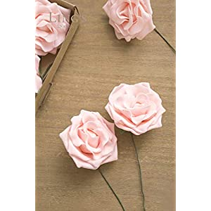 Ling's moment Artificial Flowers 16pcs Sweet Avalanche Roses for DIY Wedding Bouquets Centerpieces Arrangements Party Baby Shower Home Decorations 2