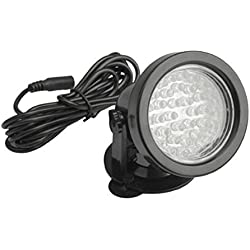 Spotlight - SODIAL(R) Underwater 36 Led Aquarium Light for Water Garden Pond Pool Tank, RGB Color Changing, Black