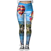 Homlife Hot Air Balloons Artwork Yoga Leggings Pants Gym Tights Stretchy Pants