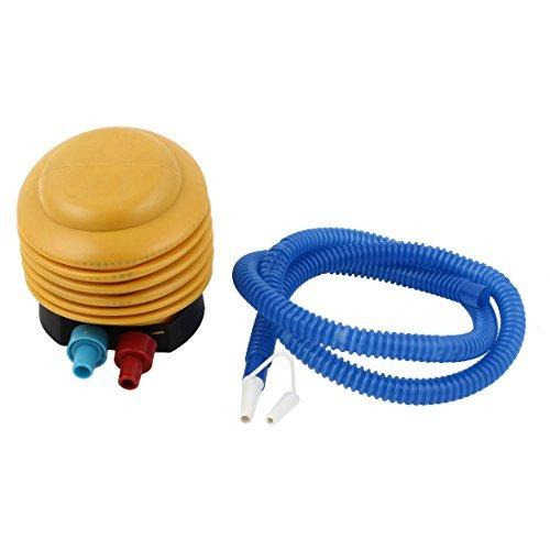 (eDealMax soffietto in plastica a pedale Bellow Mini Air Pump Inflator Blu Giallo)