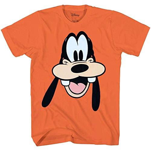 Goofy Face Big Smile I Am Goofy T-Shirt (Goofy, Orange, -