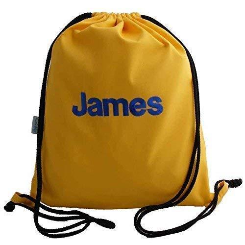 Kids Yellow Personalised Swim Bag Drawstring Backpack PE Bag  Amazon ... 3f3e8014928eb