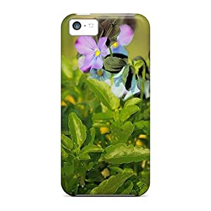 Durable Defender Case For Iphone 5c Tpu Cover(pansies)