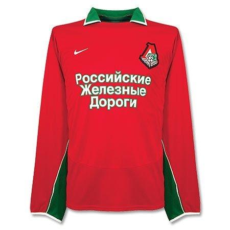 04-05 Lokomotiv Moscow Home L/S Jersey - L