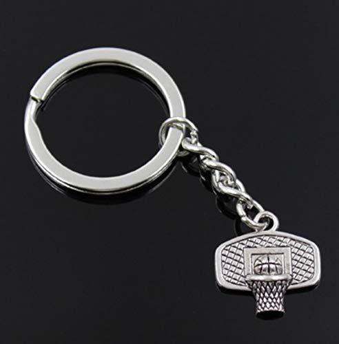 1 Set DIY Vintage Antique Silver Basketball Basket Metal Keyrings Souvenir Pendants Teen Love Heart Wrist Wristlet Key Tags Tip-top Popular Pocket Bag Car Keychain (Souvenir Spoon Antique)