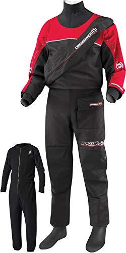Crewsaver Razor Kids Junior Drysuit Black/Red with Free Underfleece - Unisex Watersports - for Child Children