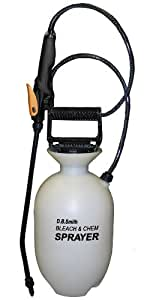 Smith 190285 1-Gallon Bleach and Chemical Sprayer for Lawns and Gardens or Cleaning Decks, Siding, and Concrete