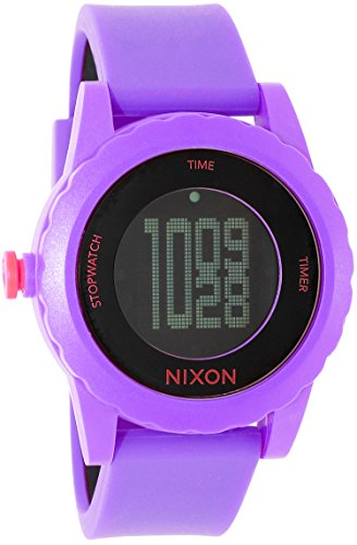 NIXON Women's A326-230 Plastic Analog Black Dial Watch (Genie Nixon Watches)