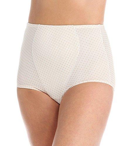 - Olga Women's Without a Stitch Light Shaping Brief Panty, Body Tone Lace Dot Print, Medium/6