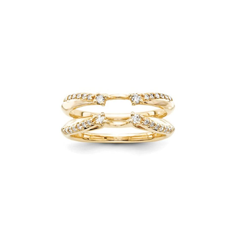 14k Yellow Gold Diamond Ring Guard (Color H I, Clarity SI2 I1)