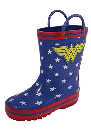 Girl's Wonder Woman Rain Boots (Toddler/Little Kid) Blue