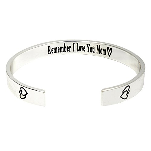 O.RIYA Mother's Day Gift / Gifts For Mom From Daughter - Mother's Bracelet , Birthday Gift , Custom Bracelet , Remember I Love You Mom, Cuff Bracelet , Forever and - Gift Box Happy Easter