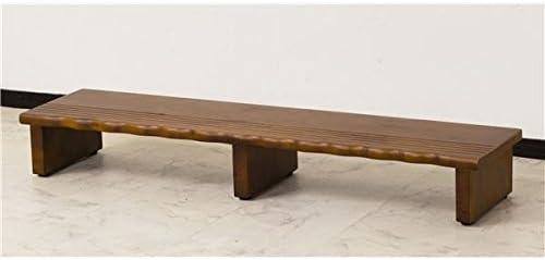 天然木玄関台(踏み台/ステップ) 幅120cm アジャスター付き 〔完成品〕