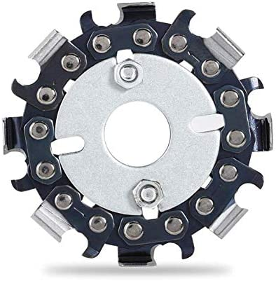2.5\u201d Grinder Chain Disc-8 Teeth Wood Carving Disc Saw Blade Angle Grinder Chain Disc Anti Anti-KickbackDouble Saw Teeth Suitable for 4 Inch (100mm) Or 4-12 Inch (115 Mm) Angle Grinders / 2.5\u201d Grinder Chain Disc-8 Teeth Wood Carvi...