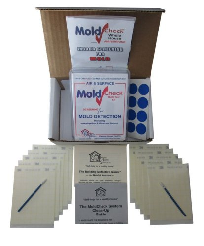 (MoldCheck Mold Test Kit (10 Tests per Kit) multiple air sampling tests, simple visual comparison, locate mold source, easy to use, no lab)