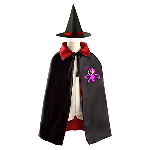 Diy Noodle Costume (DIY Filthy Frank dance Costumes Party Dress Up Cape Reversible with Wizard Witch Hat)