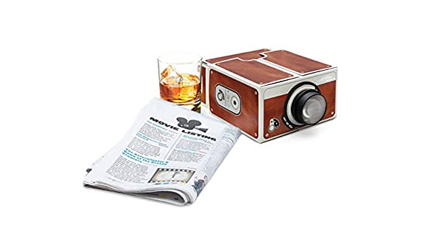 Smartphone proyector, kugi DIY cartón funda Proyectores para ...