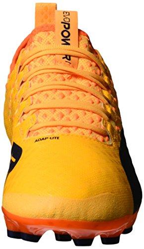 Puma Evopower Vigor 1 AG, Scarpe da Calcio Uomo Arancione (Ultra Yellow-peacoat-orange Clown Fish 03)