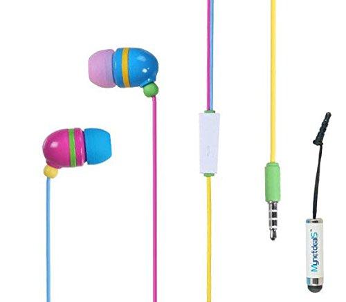 - Rainbow 3.5mm Stereo Earbuds/Headset/ Handsfree w/Mic for Motorola Moto G6, G6 Play,G6 Plus,E5, E5 Play,E5 Plus + MND Stylus