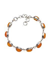 StarGems(tm) Natural Rainbow Moonstone 925 Sterling Silver Bracelet 7 1/4-8 1/4 Q2820