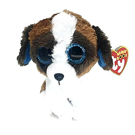 1f6be6fc460 Image Unavailable. Image not available for. Color  KonThai 6 quot  TY  Beanie Boos Duke White Brown Dog ...