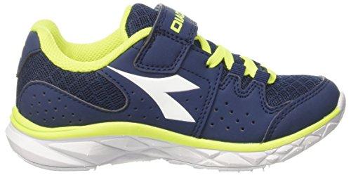 Diadora Hawk 7 Jr, Zapatos Para Correr Unisex Niños Azul (Blu Estate/bianco)