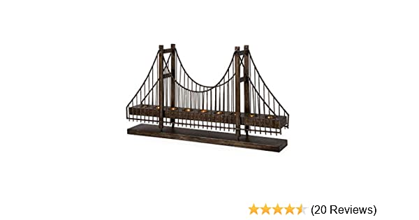Variation of Colours Modern Metal Candle Bridge with 11 LEDs