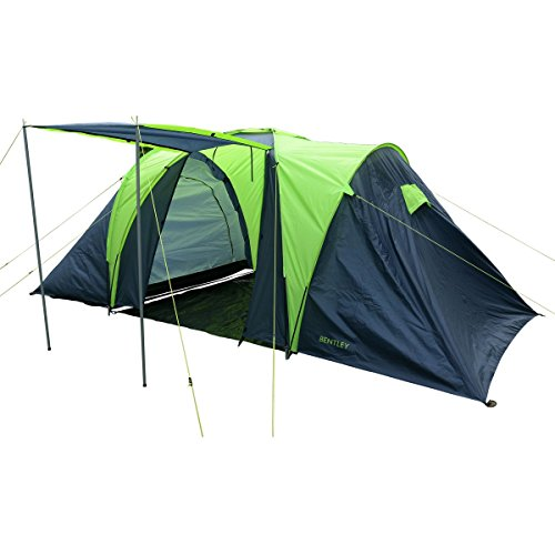 Charles Bentley 4 Person 2 Room Camping Tent & Awning L420 ...