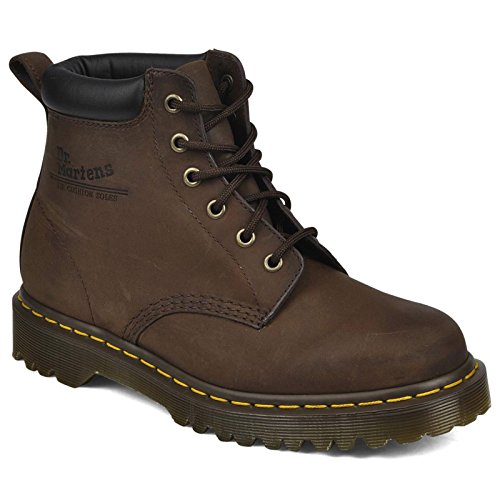 - Dr Martens mens Dr Martens Mens Non Safety Padded Collar Boots 939Z Brown Gaucho Leather UK Size 6