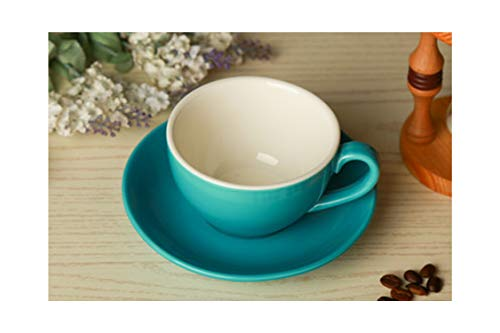 - Grade Ceramic Coffee Cup Set Simple European Style Cappuccino Flower Cups Latte,230ml,2