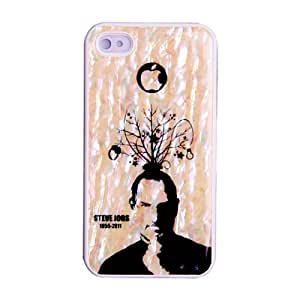 Mother of Pearl Steve Jobs Tribute iPhone 4 & 4S Hard Shell Luxury Protective Skin Cover Carrying Case