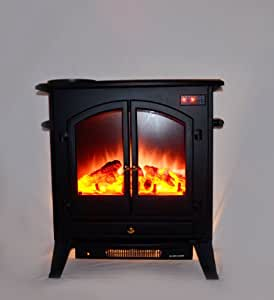AKDY Electric Fireplace Heater Free standing Black W/Remote Control 20A1