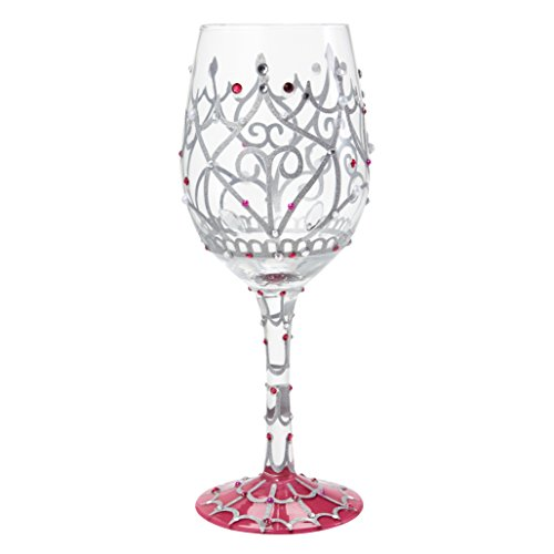 Lolita My Tiara Artisan Painted Wine Glass Gift