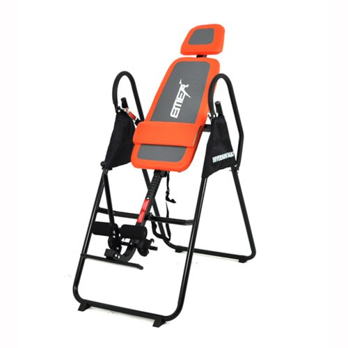 Emer Deluxe Foldable Gravity Inversion Table for Back Therapy Exercise Fitness