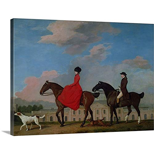 GREATBIGCANVAS Gallery-Wrapped Canvas Entitled John and Sophia Musters Riding at Colwick Hall, 1777 by George (1724-1806) Stubbs 40