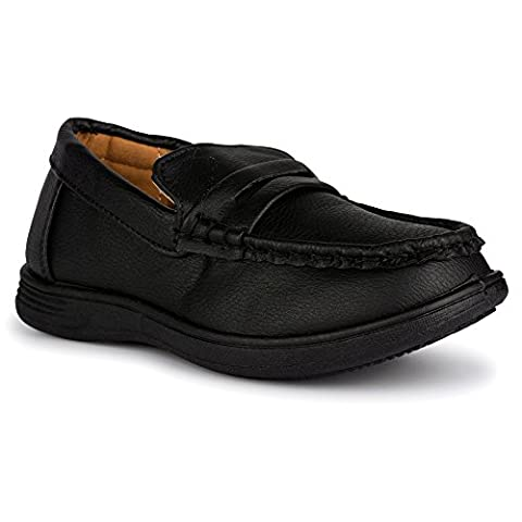 Chillipop Penny Loafers for Boys and Toddlers , Faux Leather, Slip-On Shoe Black (V3) 2 M US Little - 2 Leather Casual Shoe