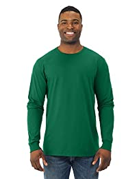 Fruit Of The Loom Mens Sofspun Long Sleeve T-Shirt, JZSFLR, 3XL, Clover
