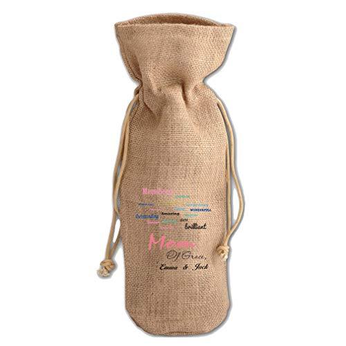 Custom Magnificent perfect Adventurous Jute Burlap Burlap Wine Drawstring Bag