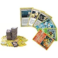 100 Assorted Pokemon Trading Cards with Bonus 6 Free Holo...