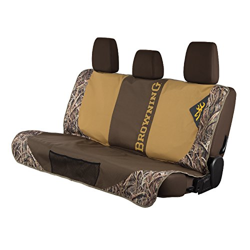 Browning Camo Bench Dog seat cover, Shadow Grass Blades (Bench Shadow Front)
