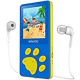 Aniee MP3 Player for Kids 8GB Lightweight Music Player with FM Radio/Video/Voice Recorder & Photo Viewer, Support Up to 64GB, 1.8 Inch TFT Screen MP3 Music Player, Blue