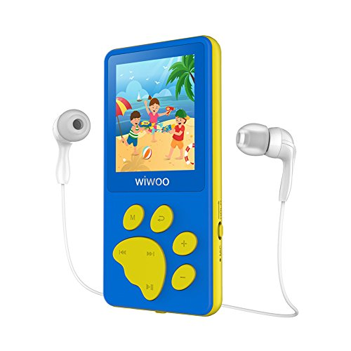 Aniee MP3 Player for Kids 8GB Lightweight Music Player with FM Radio/Video/Voice Recorder & Photo Viewer, Support Up to 64GB, 1.8 Inch TFT Screen MP3 Music Player, Blue ()